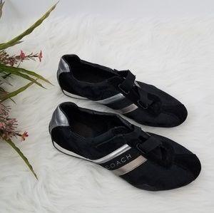 COACH• Black Silver JENNEY Sneakers 9.5M